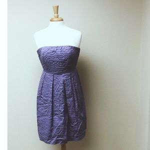 [J. crew] Lavender Textured Strapless Dress